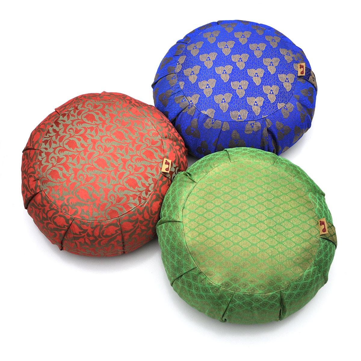 Sari Pattern Zafu Meditation Cushion
