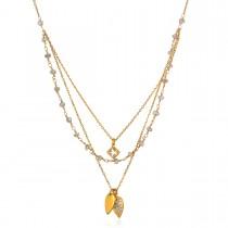 Ascension Lotus Triple Petal Necklace