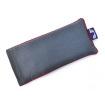 Charcoal Grey Eye Pillow (Burgundy Piping)