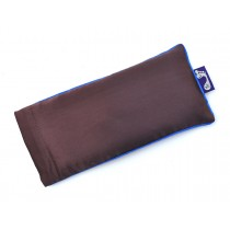 Chocolate Brown Eye Pillow (Blue Piping)