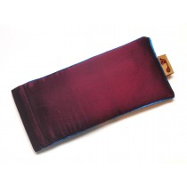 Maroon Eye Pillow (Blue Piping)