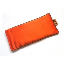 Tangerine Eye Pillow (Grey Piping)