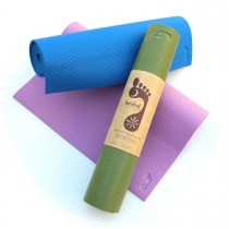 Barefoot Yoga Hybrid Eco Mat - 1/4 inch with mat strap