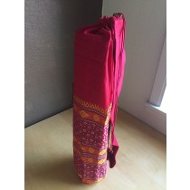Burgundy Yoga Mat Bag with Indian Embroidery