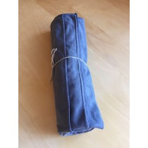 Charcoal grey yoga mat towel