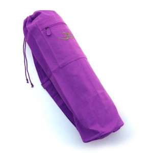 Cotton Canvas Yoga Mat Bag With OM