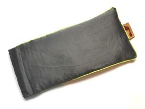 Grey Eye Pillow (Lime Piping)