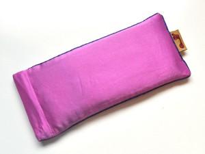 Pink Eye Pillow (Blue Piping)