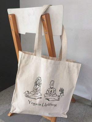 'Yoga is Uplifting' Canvas Grocery Bag