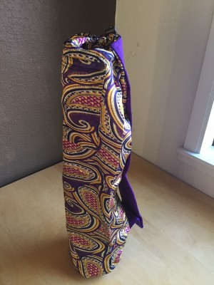 Purple Paisley Yoga Mat Bag