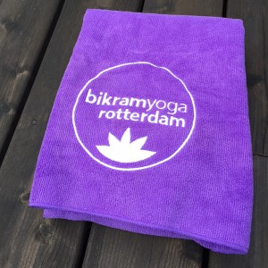 Microfiber yoga towel with embroidery