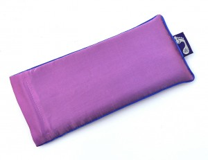Orchid Eye Pillow (Blue Piping)
