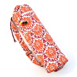 Printed Cotton Yoga Mat Bag