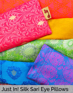 Just In! New Silk Sari Pattern Eye Pillows
