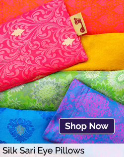 Silk Sari Eye Pillows