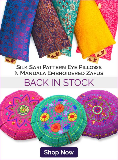 Sari Eye Pillows & Mandala Zafus Back in Stock