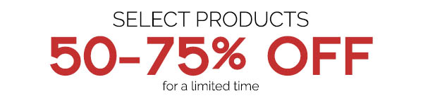 Select Products 50% Off