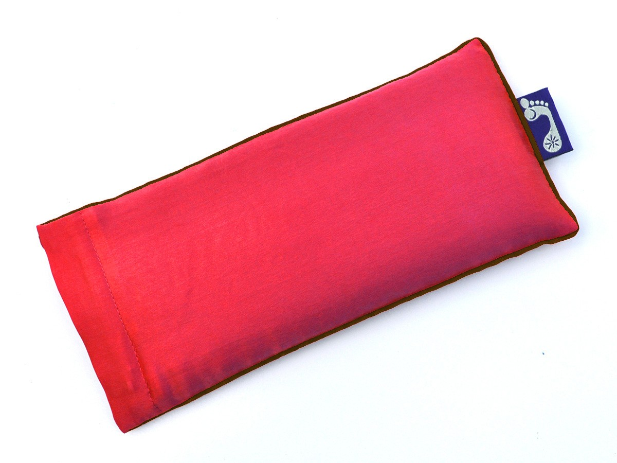 Coral Eye Pillow (Brown Piping)