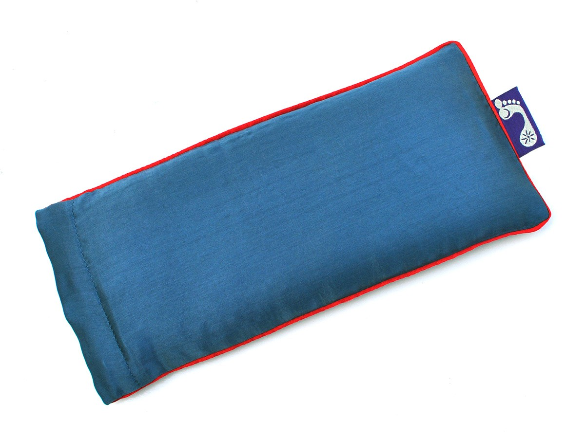 Marine Blue Eye Pillow (Red Piping)