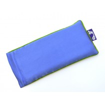 Dazzling Blue Eye Pillow (Lime Piping)