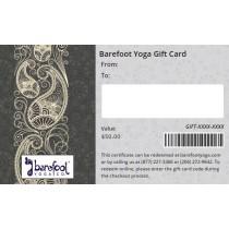 Barefoot Yoga Gift Card