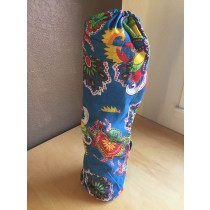 Blue Floral Yoga Mat Bag