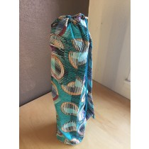 Teal Geometric Yoga Mat Bag