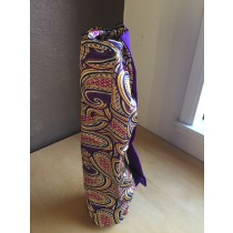 Purple Paisley Yoga Mat Bag