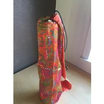 Orange Paisley Yoga Mat Bag