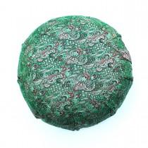 Silk Sari Zafu Meditation Cushion with Carry-all Yoga Bag