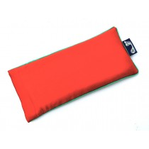 Tangerine Eye Pillow (Aqua Piping)