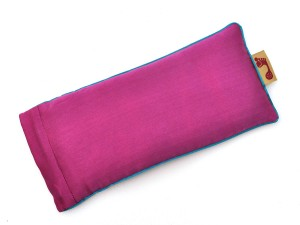 Berry Eye Pillow (Teal Piping)