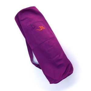 Cotton Canvas Yoga Mat Bag with OM X-Large