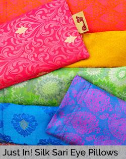 Just In! New Silk Sari Pattern Eye Pillows