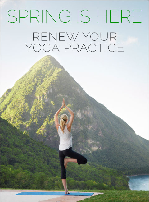 Spring is here! Renew your yoga practice.