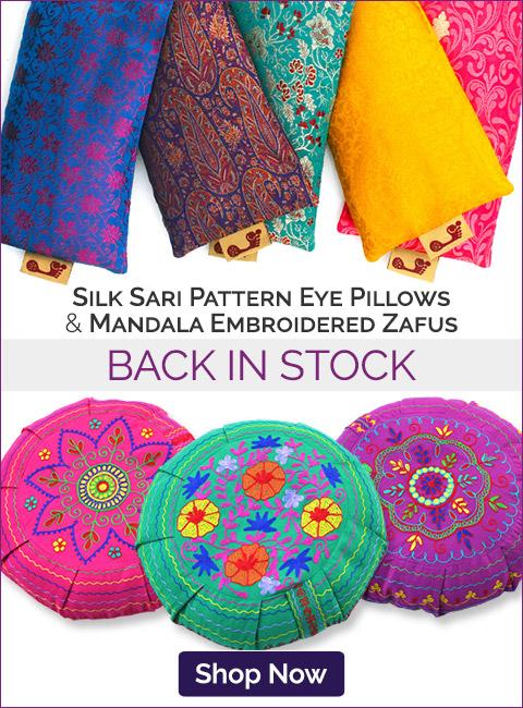Sari Eye Pillows & Mandala Zafus Back in Stock